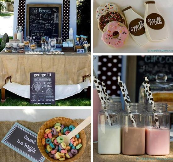 Milk & Doughnuts Party FULL OF CUTE IDEAS via Kara's Party Ideas #MilkAndDoughnuts #birthday #party #planning #idea #decorations