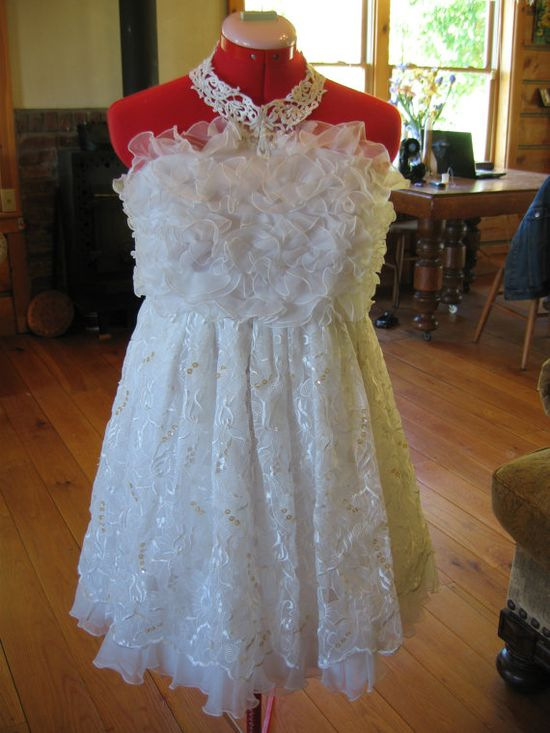 On sale from 825.00  Upcycled Wedding Dress  by CoyoteWoodWorks, $255.00