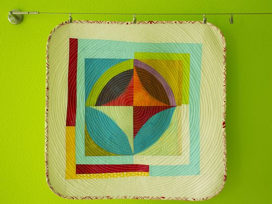 Broken Ring Mini Quilt Full View by stitchindye, via Flickr