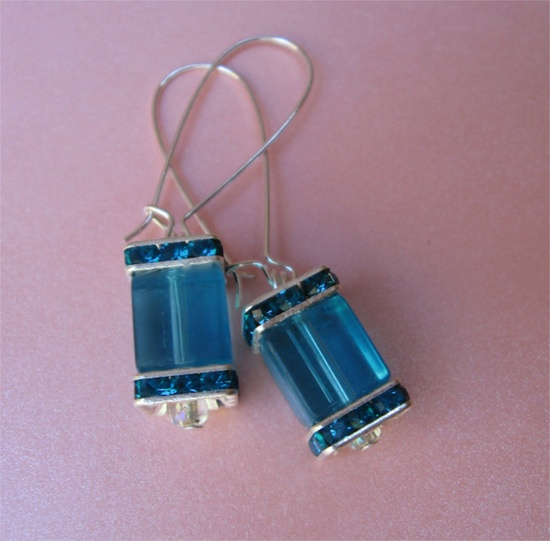 TEAL ZEAL earrings on French wires.  Oh, oh they're back, but there's only a few! $12.00.  www.etsy.com/...