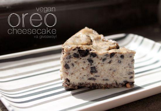 Vegan Oreo Cheesecake #giveaway #healthy #recipe #dessert