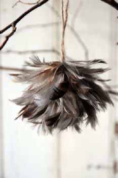 Feather Christmas Decoration - Natural