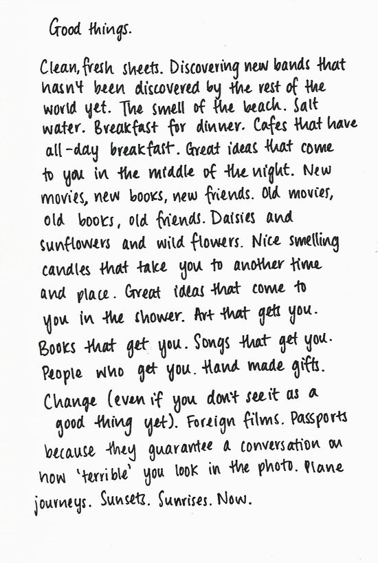 the good things//