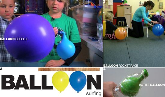 E is for Explore!: Balloon Science  air activities using a balloon