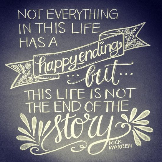 Not everything in this life has a happy ending