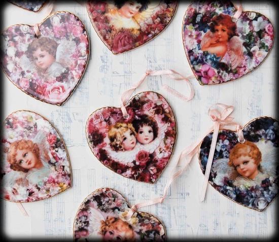 Vintage Porcelain HEARTS Romantic Valentine