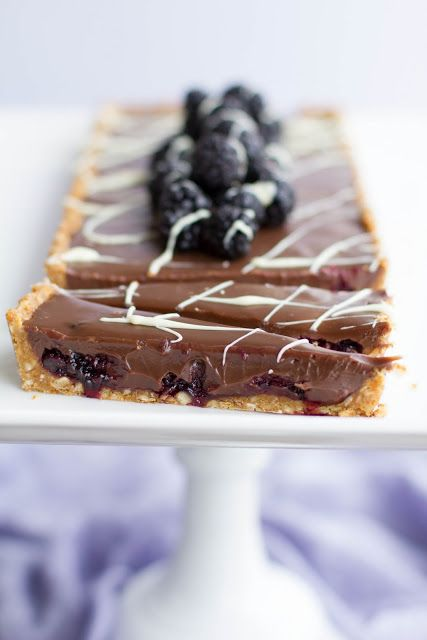 Blackberry Compote Chocolate Tart