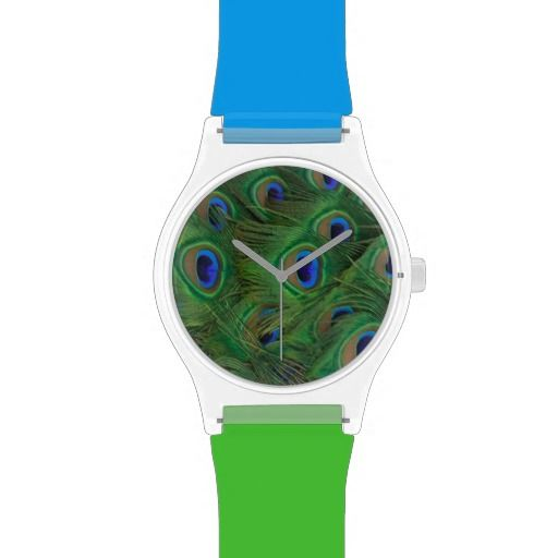 Wild Animal Print Peacock  Wrist Watch