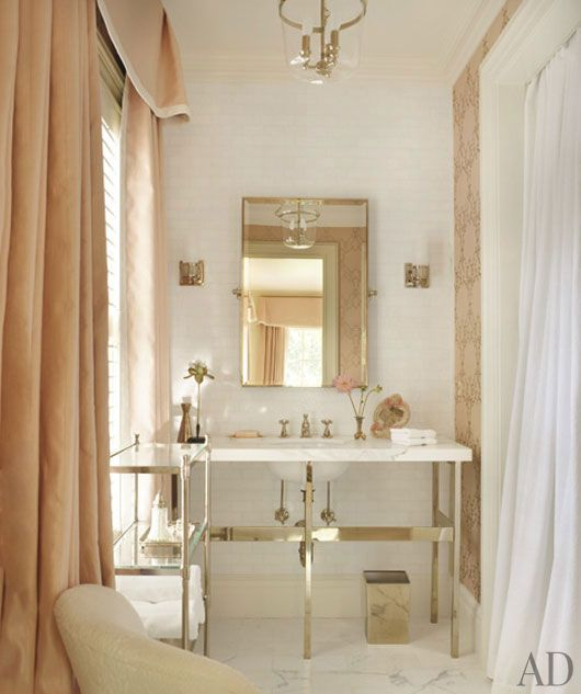 Love the mix of subtle color with the bianca marble