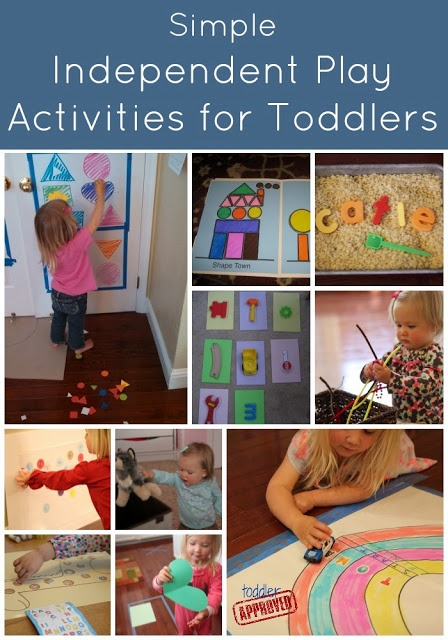 Simple Independent Play Activities for Toddlers {Toddler Approved!}