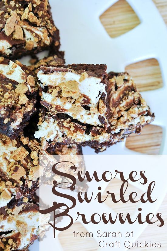 S'mores Swirled Brownies ...these look amazing!