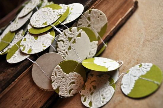 lace doily garlands