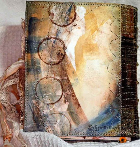 painted and fused book cover by dj pettitt, via Flickr