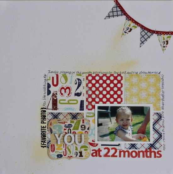 Simple layout at its best. #scrapbooking #layout #banner