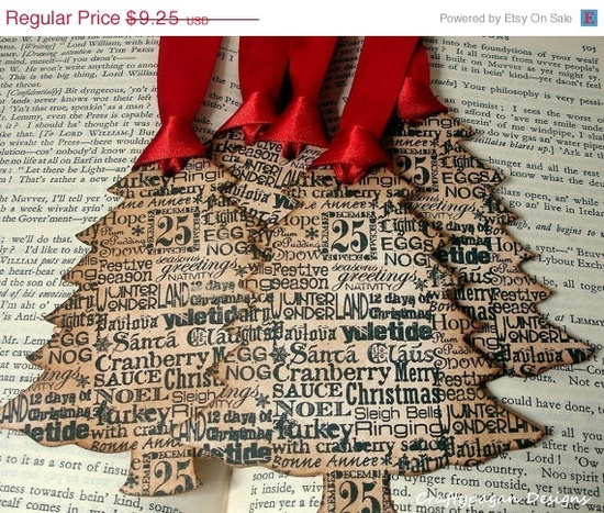 vintage christmas tree gift tags - like like like!!!