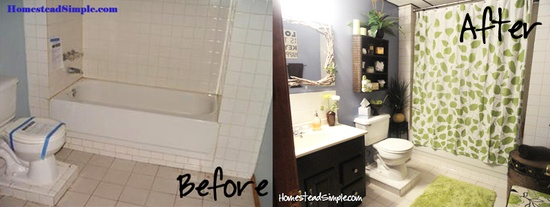 Before and After Guest Bathroom DIY Home Decor