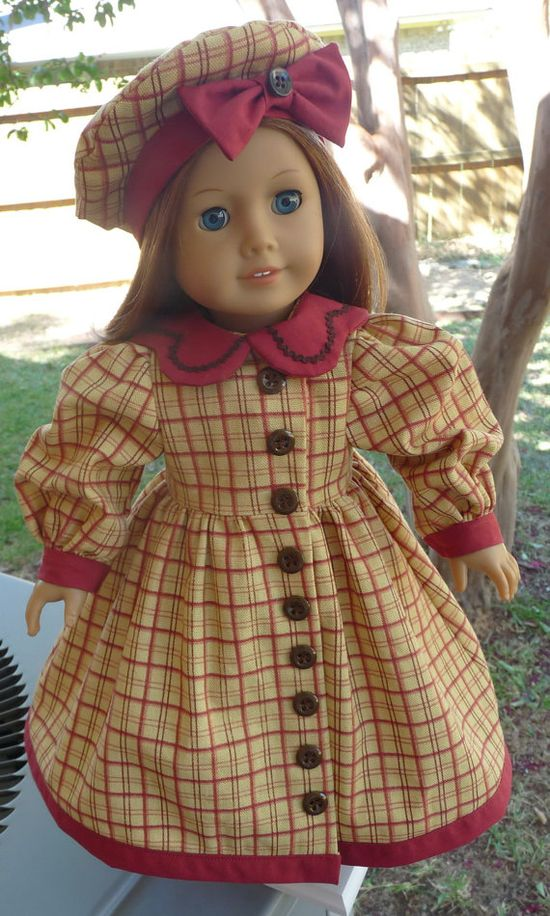 18 Doll Clothes Historical Style Coat Dress and by Designed4Dolls, $19.95
