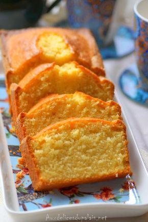 Cake à la crème fraîche au citron · Aux délices du palais
