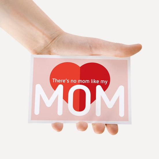Card There's no mom like my Mom : from original izzybizzy illustration