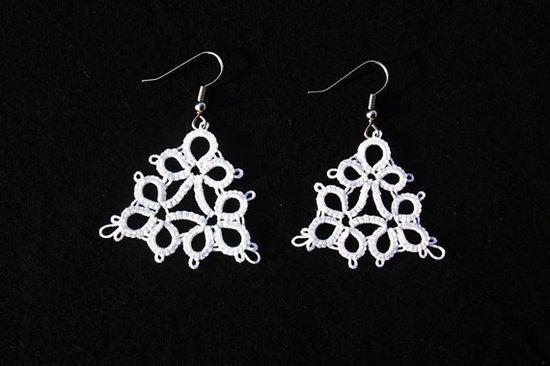 earrings bridal earrings wedding earrings lace by MamaTats on Etsy, $4.50