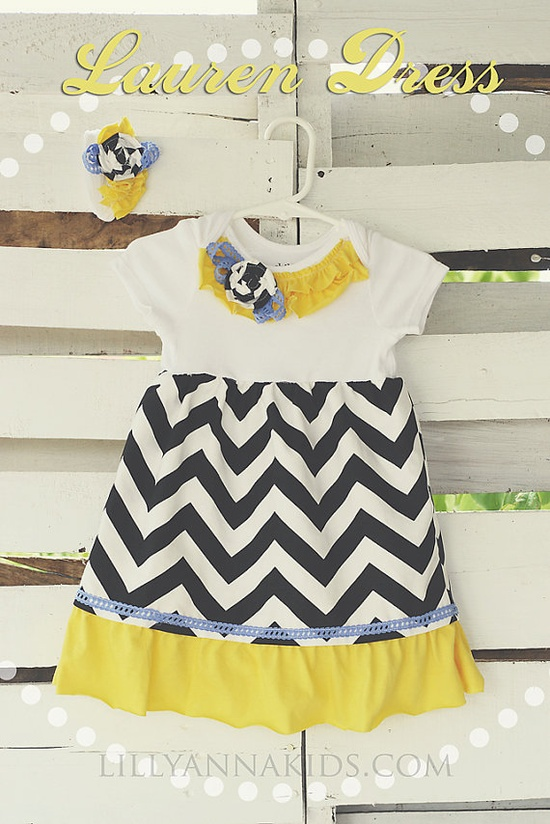 Lilly Anna Kids Chevron Lauren Dress Headband by LillyAnnaKids, $35.00