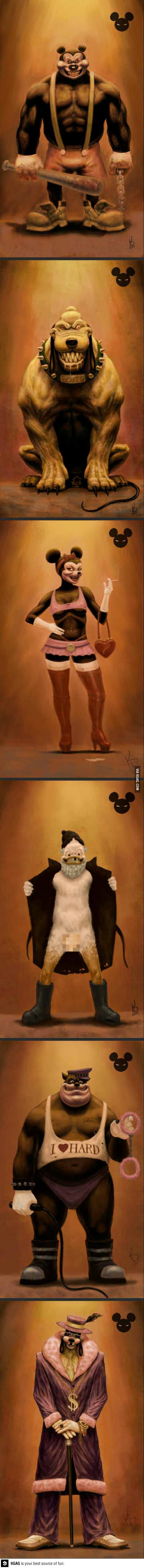 Funny Pictures Disney Characters Were Bad