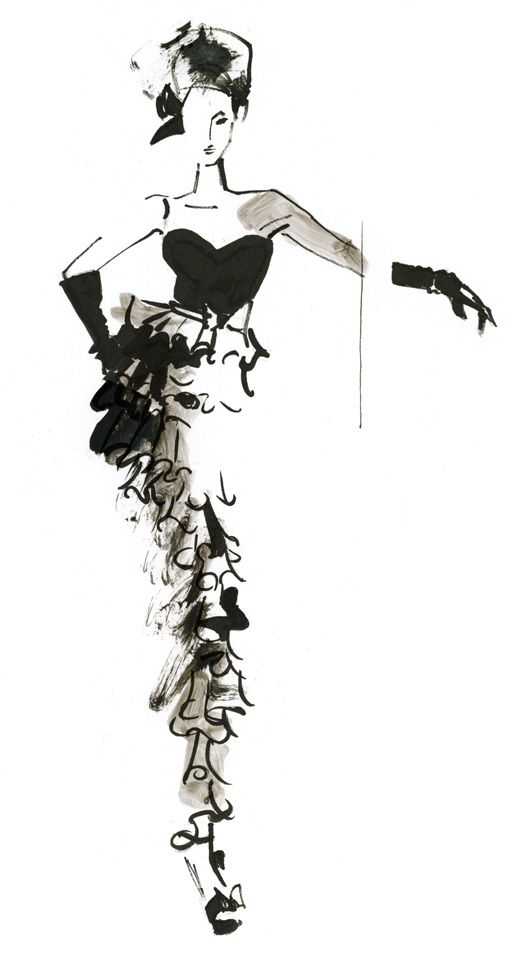 more layered fashion illustration