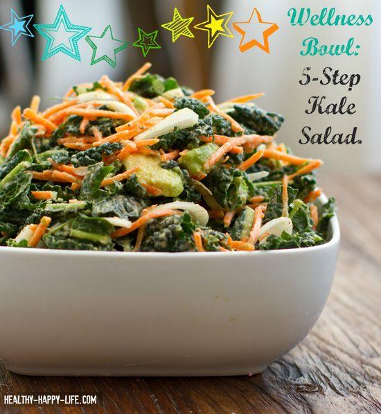 raw kale salad with tahini dressing