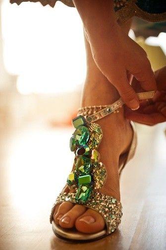 jeweled feet.