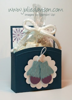 Julie's Stamping Spot -- Stampin' Up! Project Ideas Posted Daily: VIDEO Tutorial: Open Top Treat Box + Free Printable!