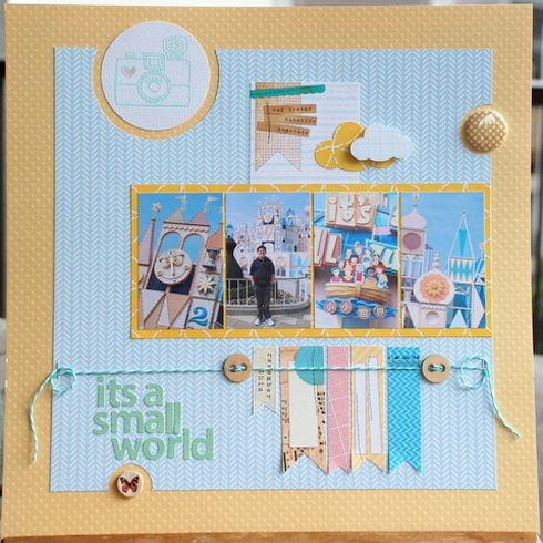 #papercraft #Disney #scrapbook #layout Elle's Studio