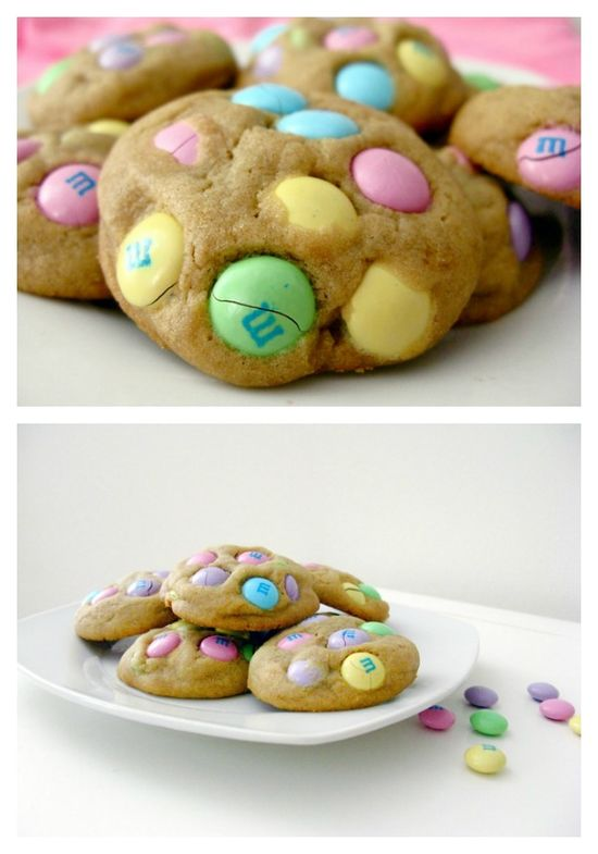 Peanut Butter M+M Cookies
