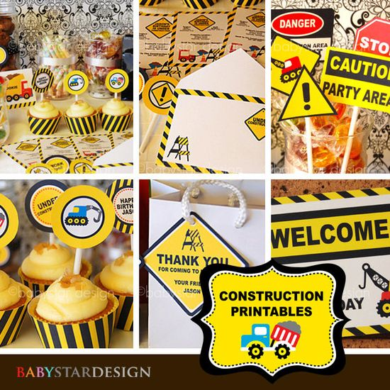 Construction Party Printables.