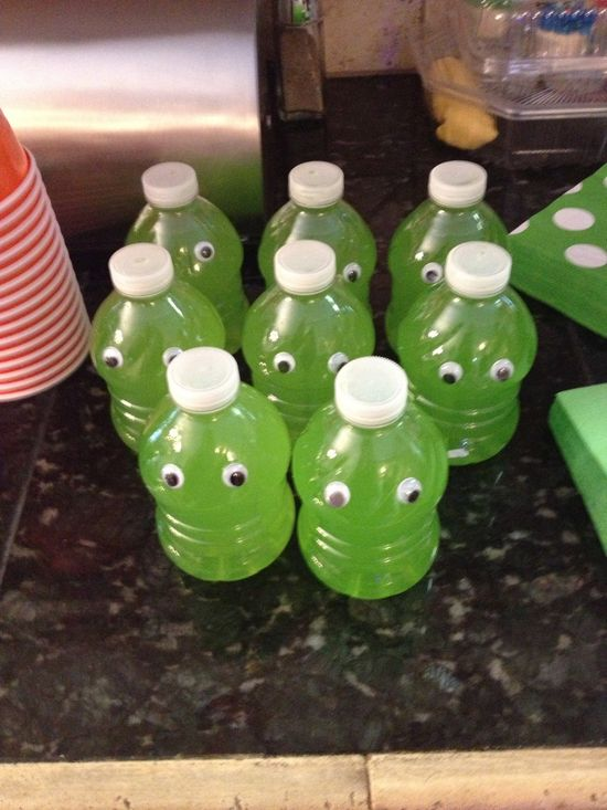Monster Party Water Bottles.