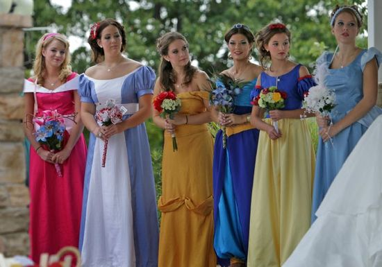 Disney inspired bridesmaids. In case you hate your friends.