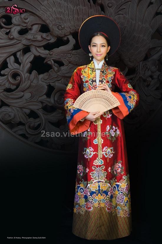 Vietnamese traditional ao dai menh phu