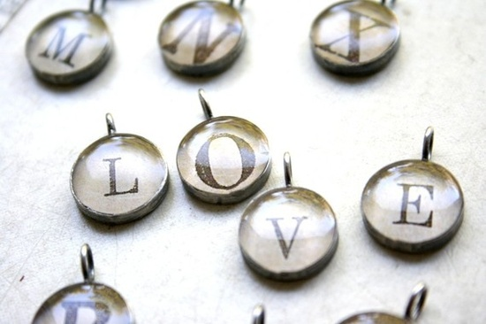 alphabet charms by foundling on Etsy, $30.00