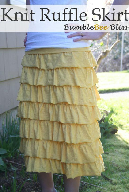 knit ruffle skirt tutorial