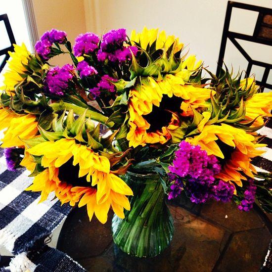 A beautiful flower arrangement - Husky Style!
