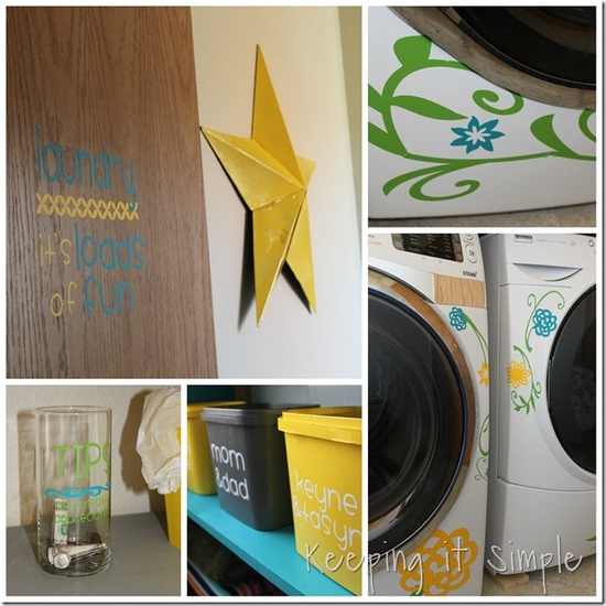 Keeping it Simple: Laundry Room makeover.  Decorating with vinyl.