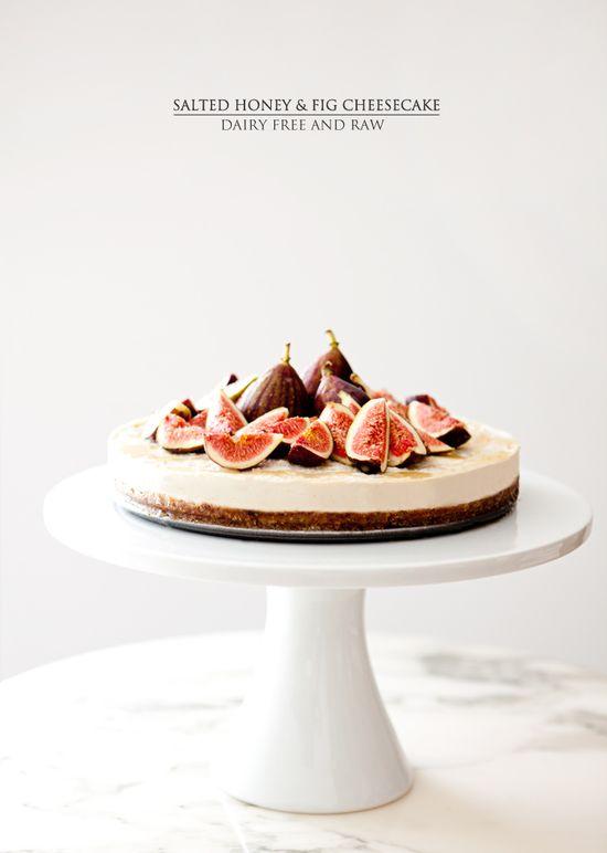 Salted honey & fig cheesecake