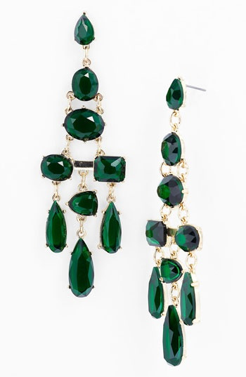 #emerald chandelier earrings #coloroftheyear cc @PANTONE COLOR
