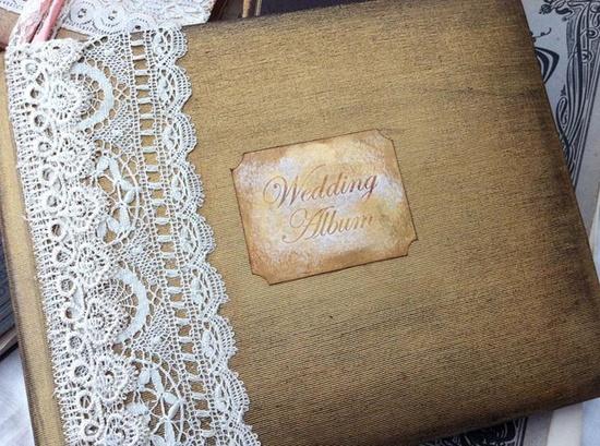 Wedding Photo Album - vintage shabby chic £49.99