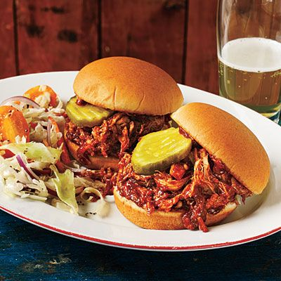 Cooking Light:  BBQ Pulled Chicken Sliders