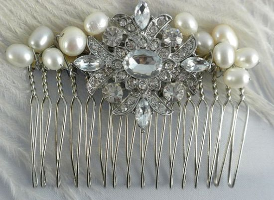 Bridal Hair comb accessory for wedding, brides, bridal hair accessory, wedding hair accessory