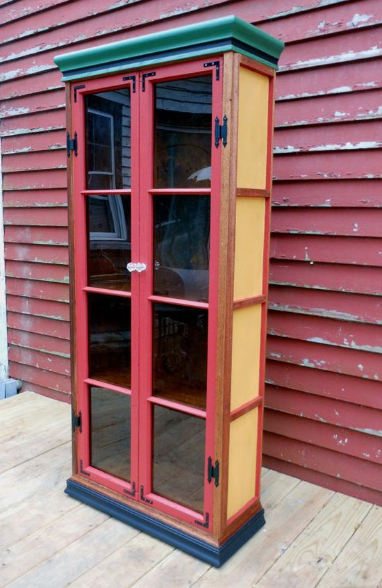 Phonebooth Cabinet Bookcase Handmade Furniture by SurrenderDorothy, $989.00