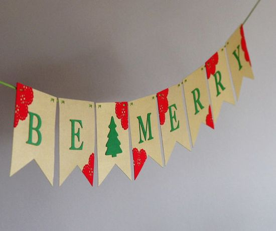 Be Merry Banner Christmas Decor Christmas by CoutureByAyca