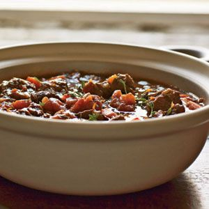 Best Beef Recipe. This classic French braised beef, red wine, and vegetable stew is simple and delicious. It stands above all of our other beef recipes because it offers the homey comfort and convenience of pot roast yet is versatile and sophisticated enough for entertaining. Garnish with chopped fresh thyme. --Recipe by Lia Huber (November 2004)