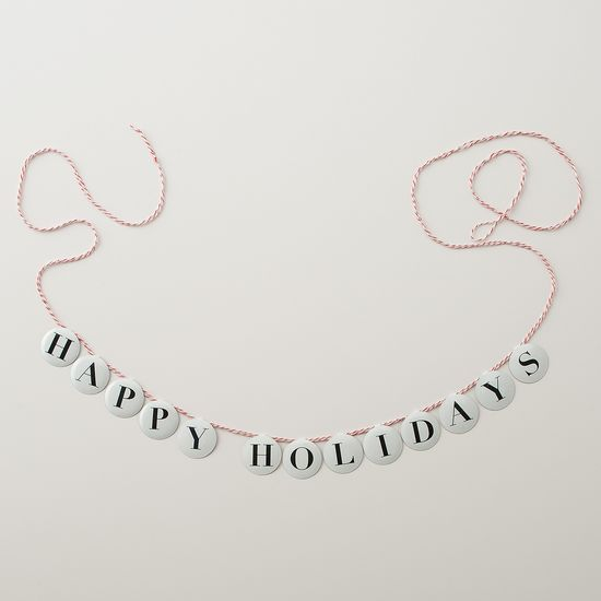 Happy Holidays Garland Kit