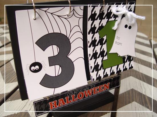 countdown to Halloween calendar printable